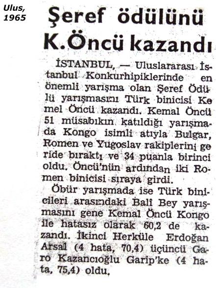 Kemal Öncü - Milli Sporcu